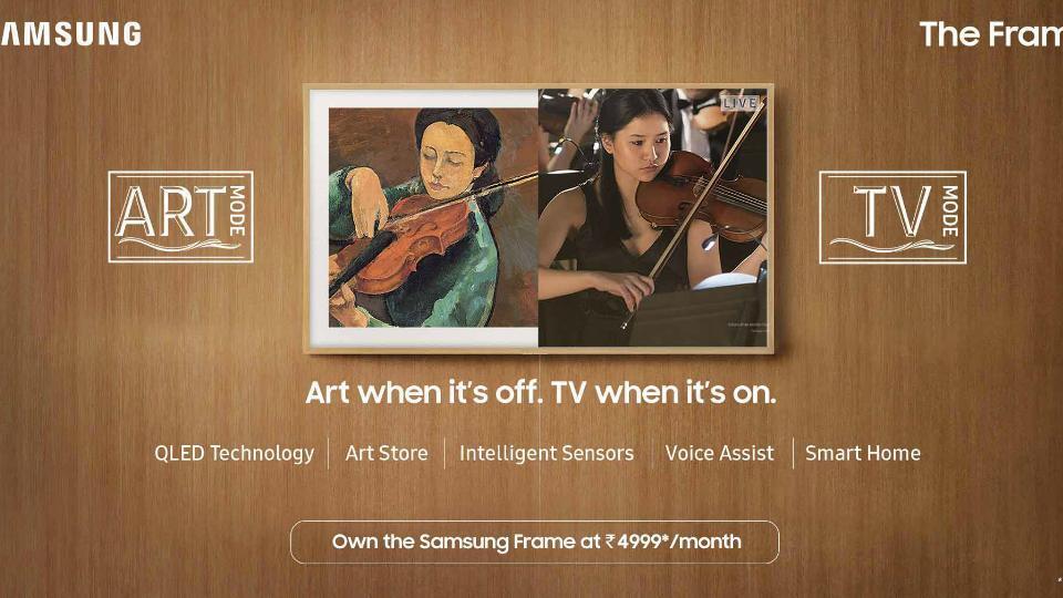 Samsung's 'The Frame' QLED TV.