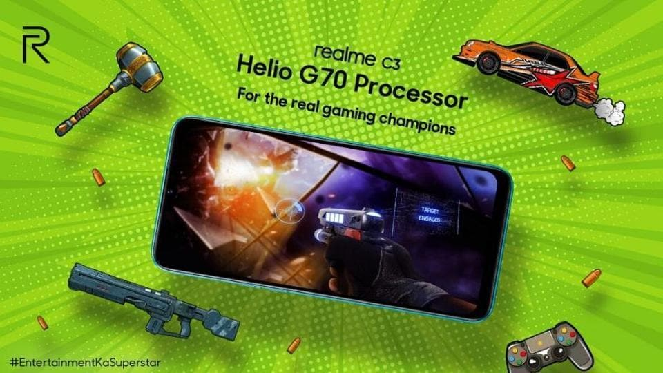 Realme C3 will be the first phone with a MediaTek Helio G70 processor.