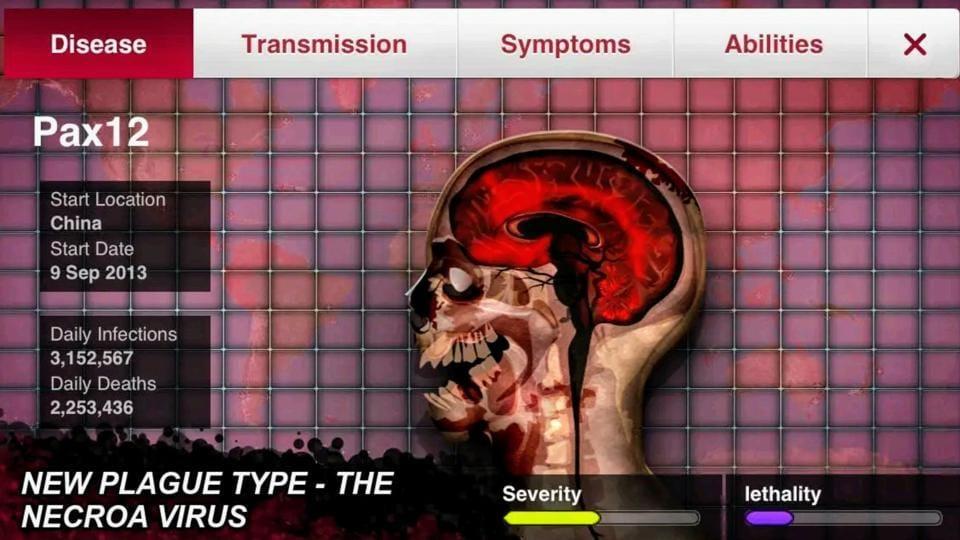 Plague Inc. app screenshot.