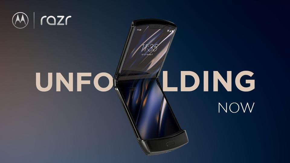 The new Motorola Razr 2019 comes with a foldable screen and is Motorola's first foldable smartphone.