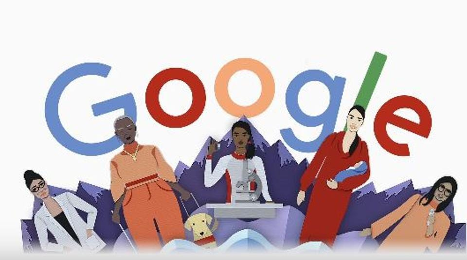 This year's Google Doodle has been illustrated by New York and London-based guest artists Julie Wilkinson and Joyanne Horscroft.