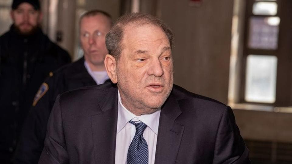 Harvey Weinstein arrives at New York Criminal Court as the jury continues to deliberate in his sexual assault trial in the Manhattan borough of New York City, New York, U.S., February 21, 2020.
