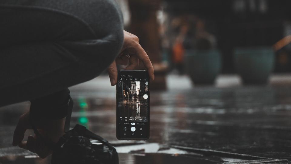 Camera app in iPhone.
