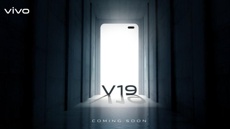 The Vivo V19 looks a lot like the Vivo V17 that has a rectangle camera bump at the back. At the front, there are dual punch-hole cameras on the top right corner.