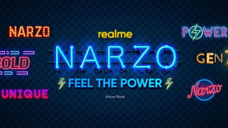 Realme Narzo teaser poster revealed.