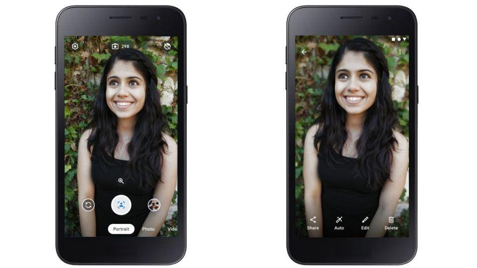 Google's Camera Go app comes with features like portrait mode and storage saving mode.