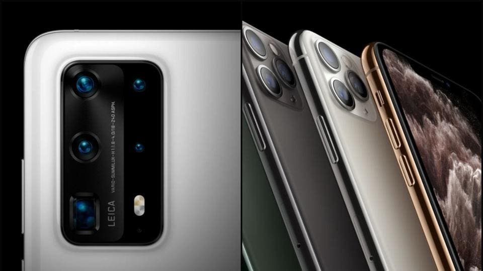 Huawei's premium P40 Pro Plus has five rear cameras including a 50-megapixel ultra vision camera. Here's a comparison with the iPhone 11 Pro Max's.