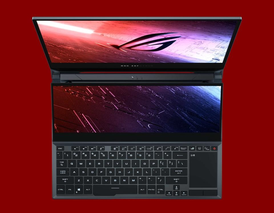 The Asus ROG laptop lineup is highlighted by the Zephyrus Duo 15 along with Zephyrus S17/S15, M15/M17, ROG Strix Scar 15/17 and Strix G15/G17.