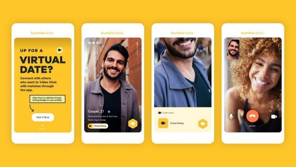 Bumble is pushing virtual dating with new features for users globally.