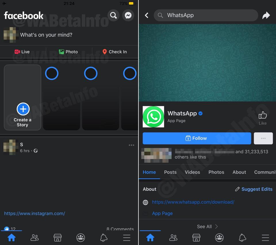 Dark Mode Facebook Ios