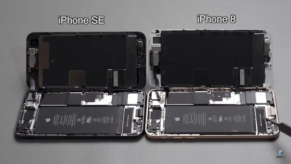 At one point, the video also talks how swapping components between the three-year-old and hardly a month-old-iPhones is possible with certain level of success depending on the part.