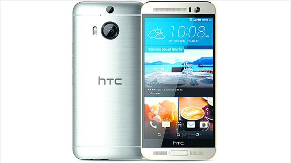 File image of the HTC One M9+ .
