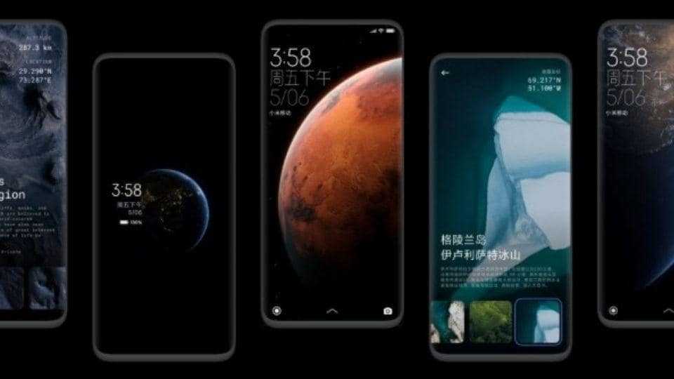 MIUI 12 brings live wallpapers which opens up to a larger image when the phone unlocks.